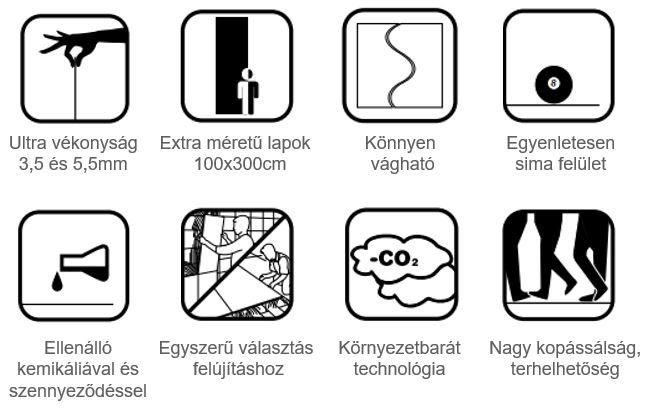 Slimtech-terméktulajdonságok