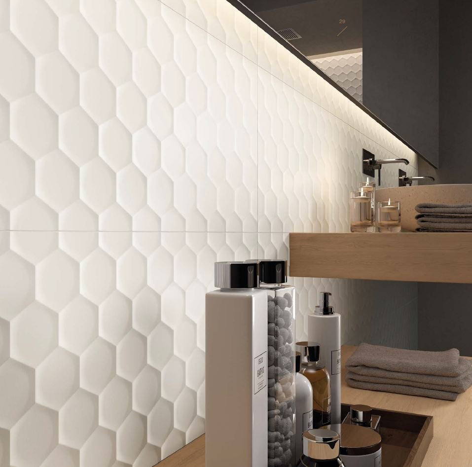 4D Hexagon Matt White