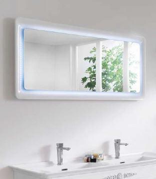 Fürdöszobai tükör keretes LED világítással