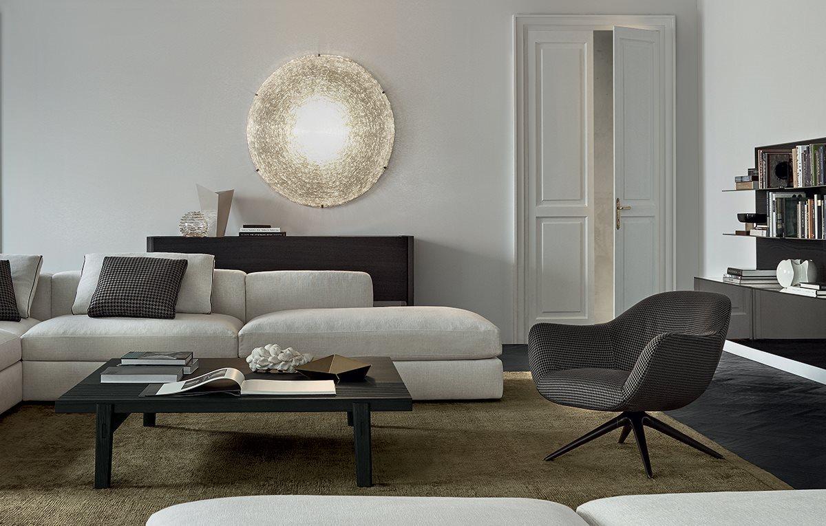 Poliform-Mad-chair-kárpitozott-fotel-központi-fémlábbal