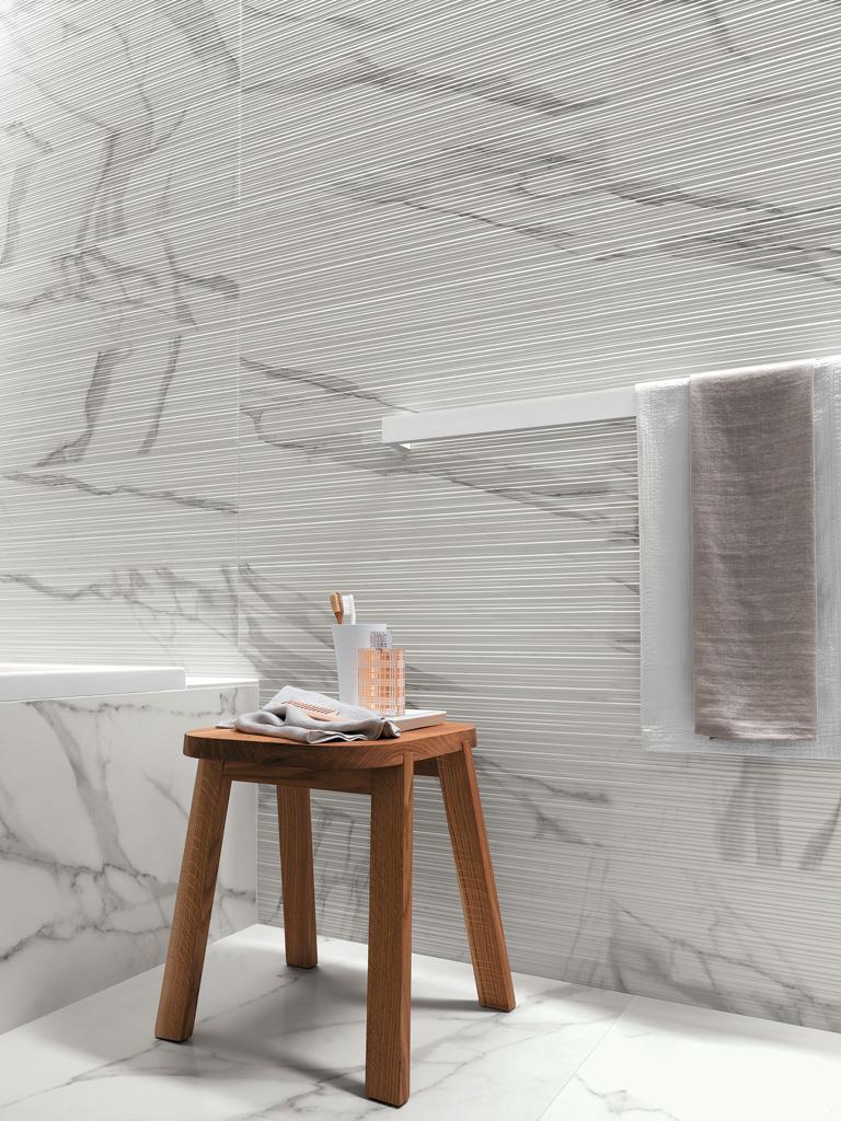 Roma Filo Statuario 50x110cm 3D falburkolat