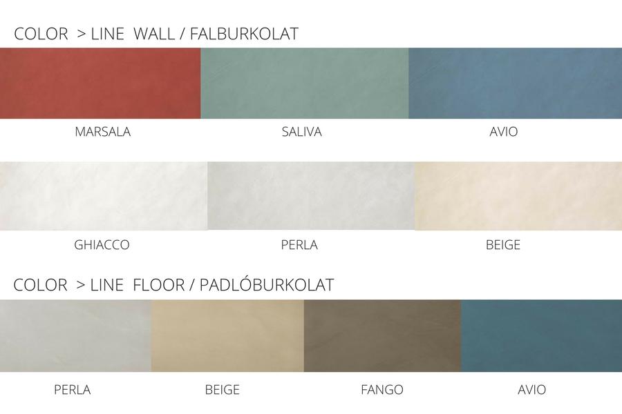 COLOR LINE színek (fal- és padlóburkolat)