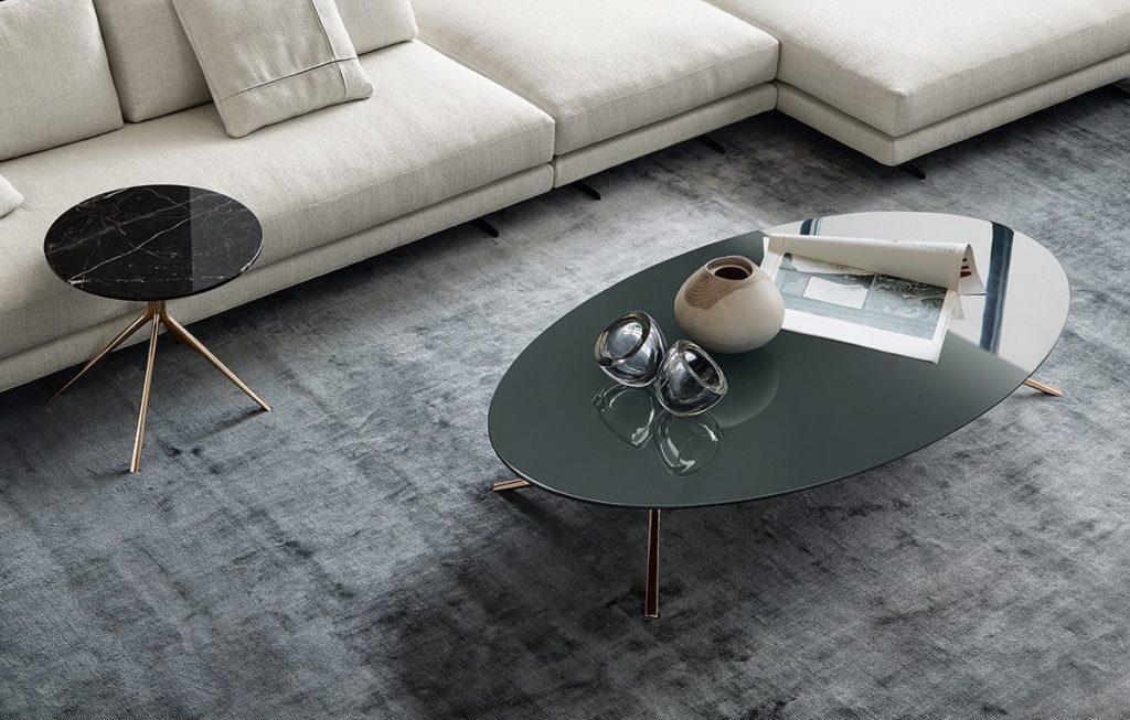 Mondrian ovális kávézóasztal