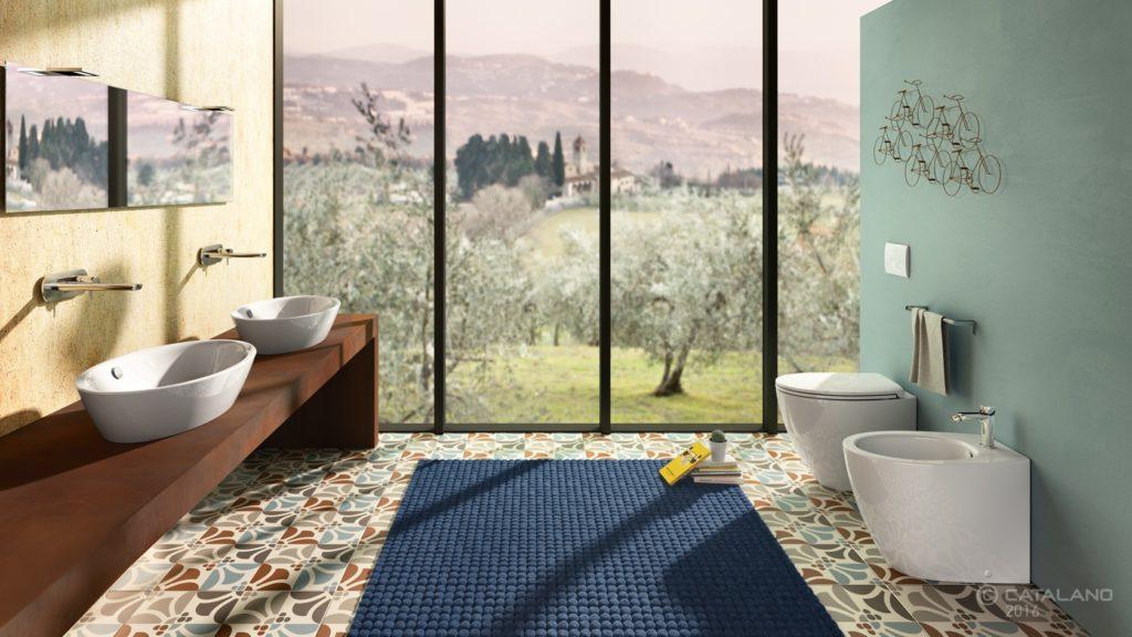 Velis 70x42cm ültetett mosdó