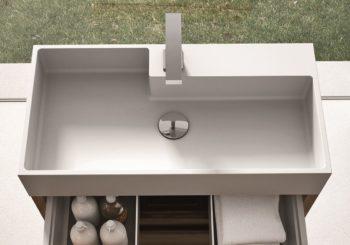 AQUATEK – high resistance tops and integrated washbasins