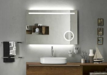 fürdőszobai tükör beépített világitással kozmetikai tükörrel